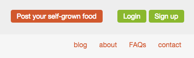 The post your self-grown food button